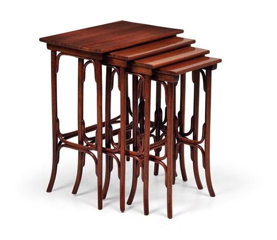 Four Thonet Nesting Tables No. 10