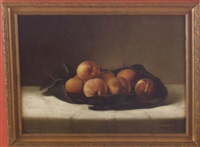 still life of peaches by louis p. spinner