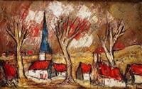 le petit village by henri d' anty