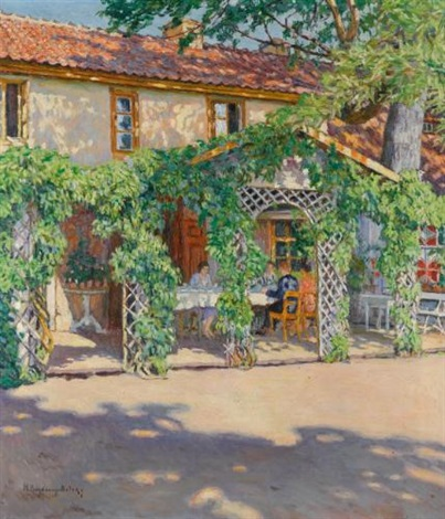 dacha in the summer by nikolai petrovich bogdanov belsky