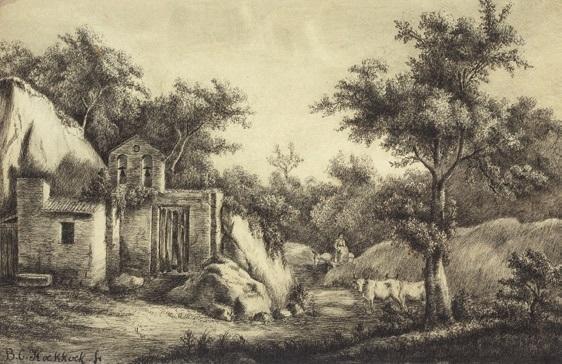 paysage by barend cornelis koekkoek