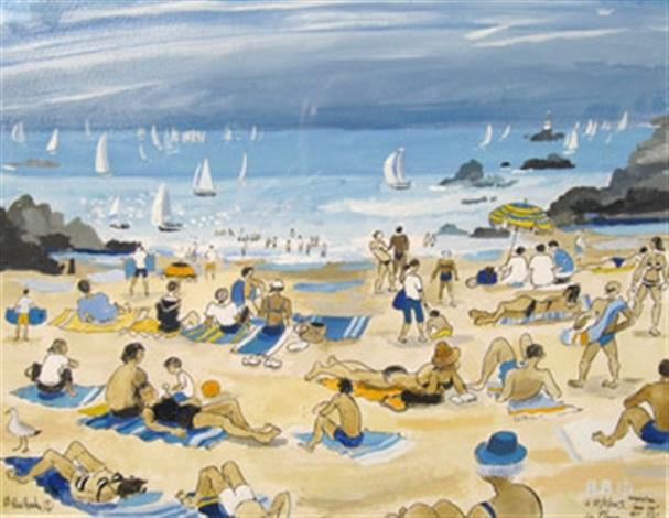 la plage de st briac by alain bailhache