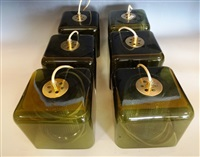 rare suite de six suspensions (set of 6) by carl fagerlund