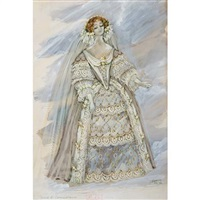 costume design for beverly sills as lucia in donizetti's lucia di lammermoor by jose varona