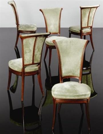Foyer Chairs (set Of 5) By Eugéne Gaillard
