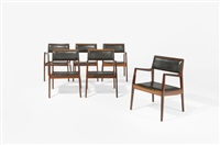 suite de six fauteuils by jens risom