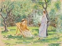conversation sous les arbres by auguste pegurier
