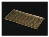 ki-seto (yellow seto) rectangular flat bowl by kitaoji rosanjin