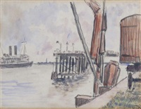 the thames by lucien pissarro