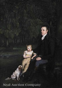portrait of thomas fawcette of yorkshire, with his nephew by ramsay richard reinagle
