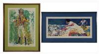 tennis and jockey (2 works) by leroy neiman