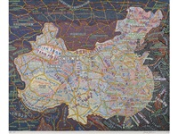 china (from maps series) by paula scher