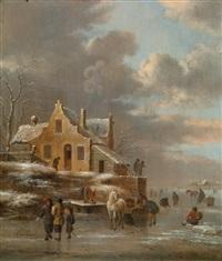 ein paar winterlandschaften by klaes molenaer