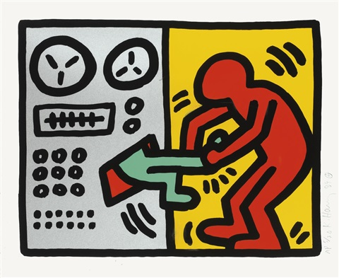 pop shop iii set of 4 by keith haring