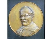 bas-relief bust of c.j langenhoven by anton van wouw