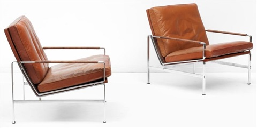 Paire de fauteuils modèle FK6720 by Preben Fabricius and Jørgen ...