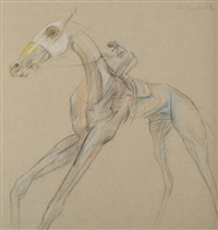 horse & jockey by con campbell