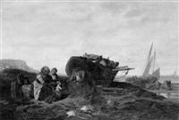 retour de pêche by armand cotelle-hébert
