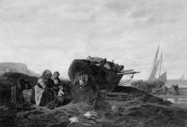 retour de pêche by armand cotelle hébert