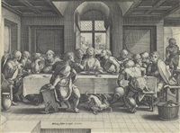 the last supper by hendrick golzius