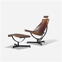 lounge chair and ottoman (pair) by max jules gottschalk
