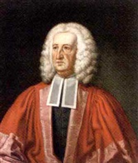 portrait of judge dr william king in robes by john smibert