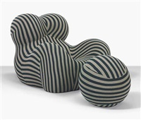 up 5 donna chair and up 6 donna ottoman by gaetano pesce