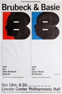 brubeck & basie: lincoln center by milton glaser