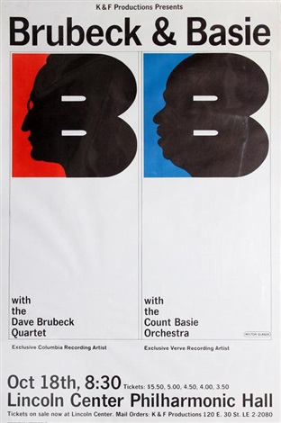 brubeck basie lincoln center by milton glaser