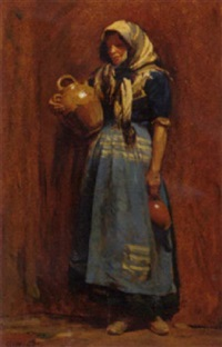 a spanish peasant woman by frances eduard colthurst