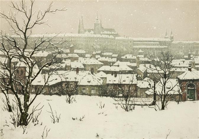 der hradschin unterm schnee by tavík frantisek simon
