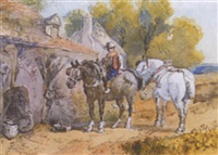 rider with two horses by harden sidney melville