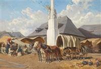 markt in szolnok by alexander ritter von bensa