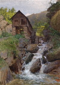 mühle am bach by heinrich tomec
