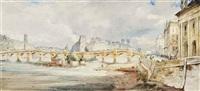 view of the ile de la cité and pont neuf, paris by james holland