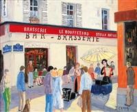 rue mouffetard, chanteurs des rues by jacques camus