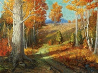 fall landscape by arthur j. hammond