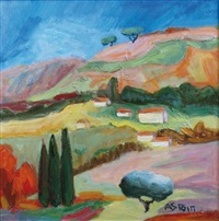 paysage provençal by marie astoin