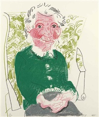 portrait of mother i (from the moving focus series) by david hockney