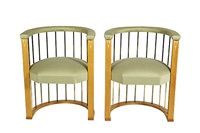 armchairs black villa (pair) by eliel saarinen