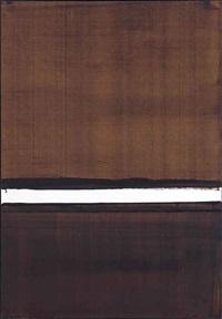 brou de noix sur papier 108x75cm (a-5), 2004 by pierre soulages