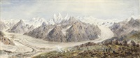 the baltoro glacier, karakoram by henry haversham godwin-austen