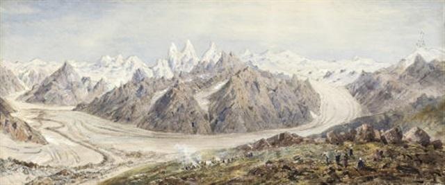 the baltoro glacier karakoram by henry haversham godwin austen