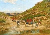 caravane dans le desert by victor pierre huguet