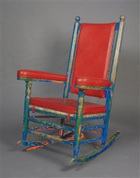 rocker (upholstered by lawrence arata) by p & p chair company