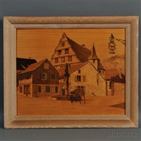 village of blaesheim by paul-louis spindler