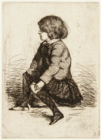 seymour seated by james abbott mcneill whistler