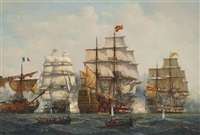 the battle of trafalgar, 21st october by denzil smith