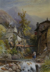 the old mill, ambleside by james burrell smith