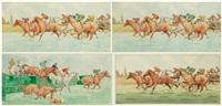la course et le passage de la haie (pair) by etienne le rallic